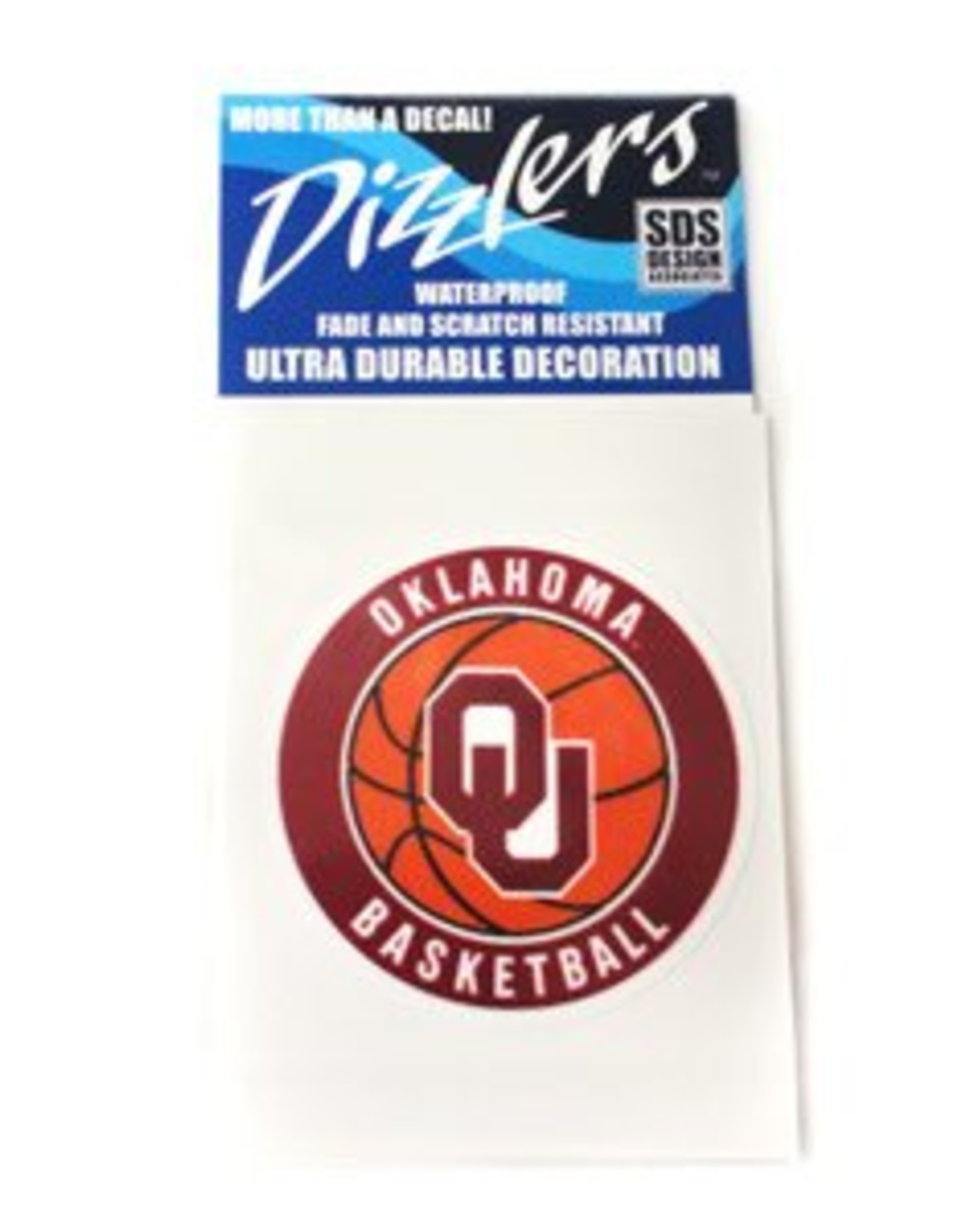SDS Design Dizzler OU Basketball Small Decal