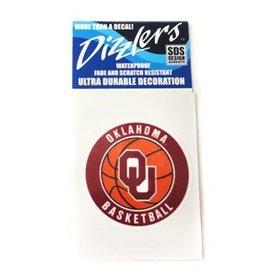 SDS Design Dizzler OU Basketball Small Decal