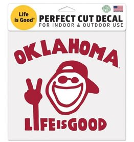 "WinCraft Life is Good Oklahoma Decal (8"" x 8"")"