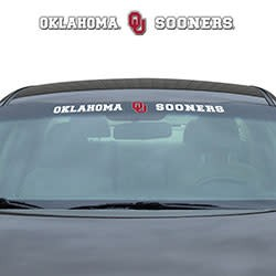 Oklahoma Ou Sooners Front Windshield Auto Decal Balfour Of Norman