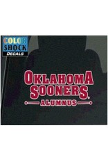"Color Shock Oklahoma Sooners Alumnus Auto Decal 2.7""x6.4"""