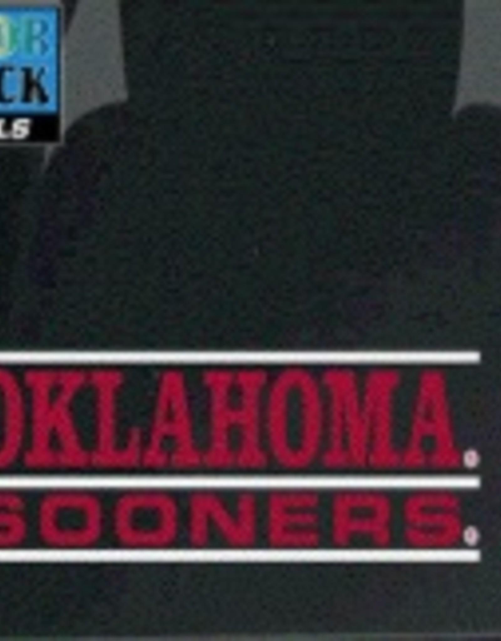 "Color Shock Oklahoma Sooners Bar Design Auto Decal 2.1""x6.5"""