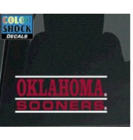 "Color Shock Oklahoma Sooners Bar Design Auto Decal 2.1""x6.5"""