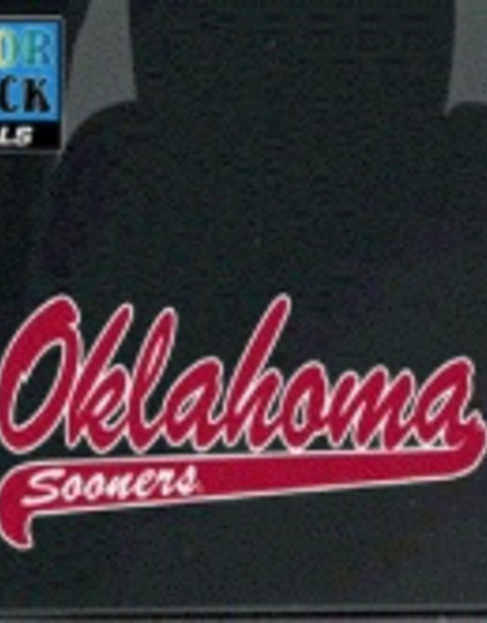 """Color Shock Oklahoma Sooners Script with Tail Auto Decal  2.7""""X6.5"""""""
