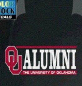 "Color Shock OU Alumni Horizontal Auto Decal 2.1""x6.5"""