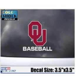 "Color Shock OU Baseball Auto Decal 3.5""x3.5"""