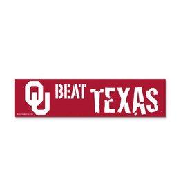 WinCraft OU Beat Texas Bumper Sticker