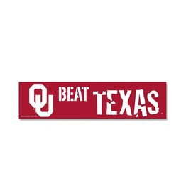 WinCraft OU Beat Texas Bumper Sticker