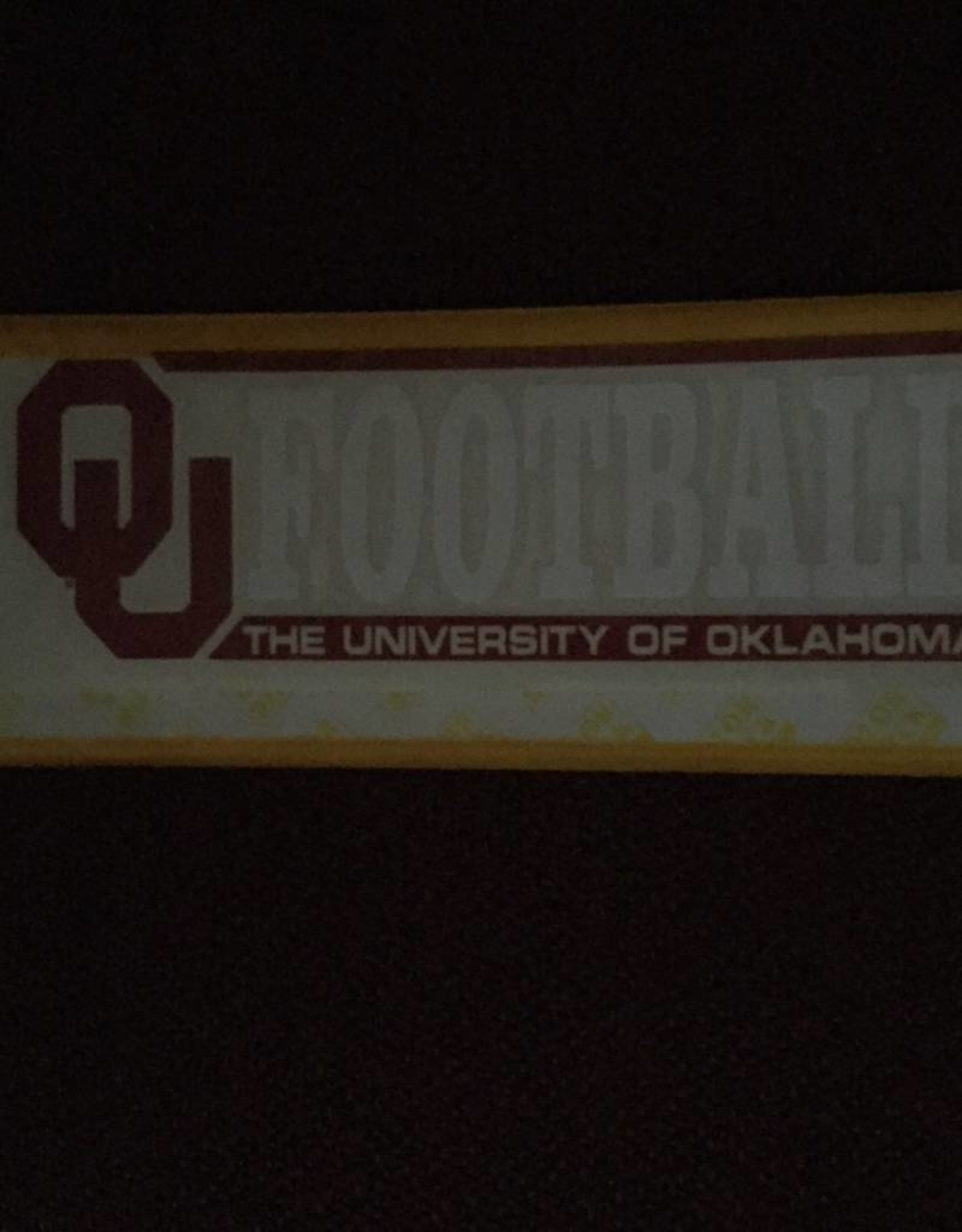 "Color Shock OU Football Bar Design Auto Decal 2.25""x6"""