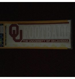 "Color Shock OU Football Bar Design Auto Decal 2.25""x6"""