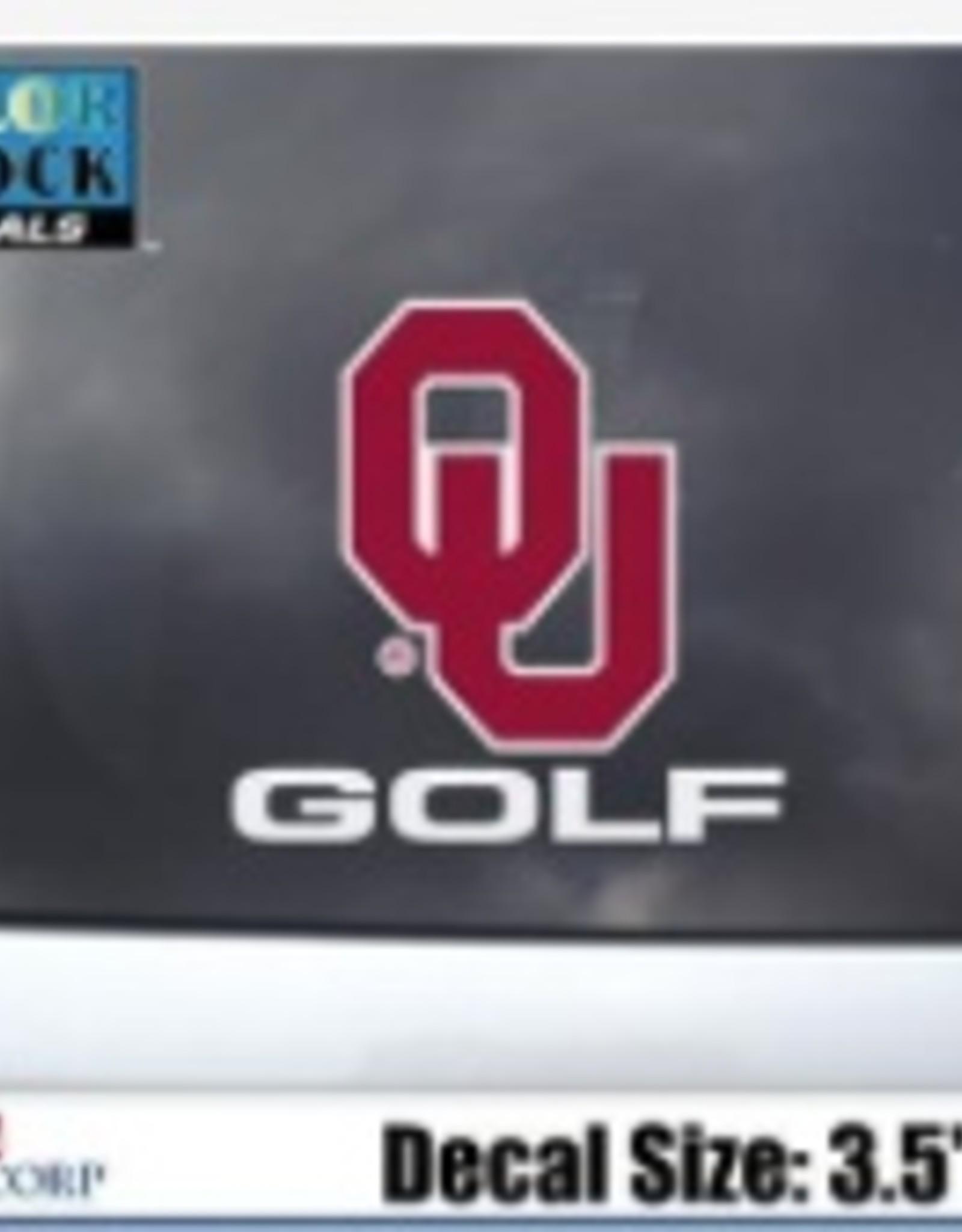 "Color Shock OU Golf Auto Decal 3.5""X5"""