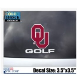"Color Shock OU Golf Auto Decal 3.5""X5"""