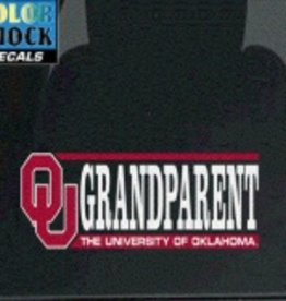 "Color Shock OU Grandparent Auto Decal 2.1""x6.5"""