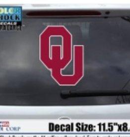 "Color Shock OU Large Auto Decal 11.5""x8.4"""