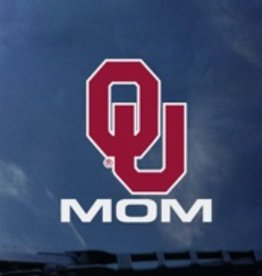 "Color Shock OU Mom Vertical Auto Decal 3.8""X3.5"""