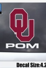 "Color Shock OU Pom Auto Decal 4.2""x3.5"""