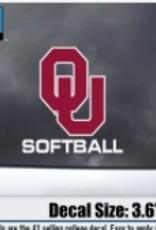 """Color Shock OU Softball Auto Decal 3.6""""x3.5"""""""