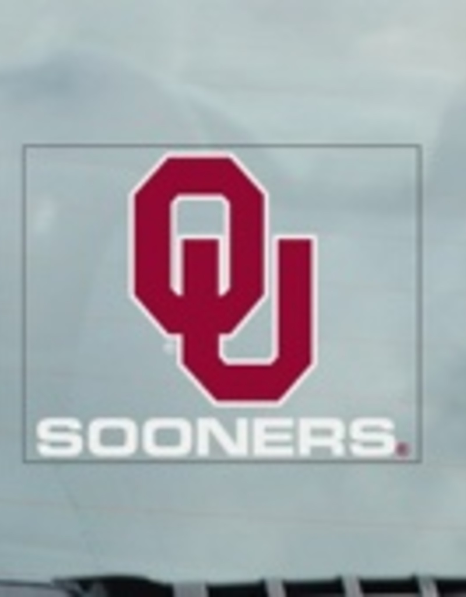"""Color Shock OU Sooners Static Cling (inside application) Auto Decal 3.5""""x4.5"""""""