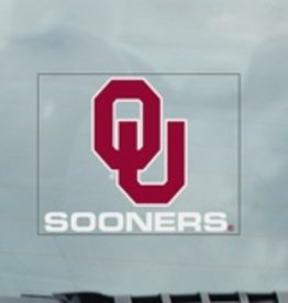 "Color Shock OU Sooners Static Cling (inside application) Auto Decal 3.5""x4.5"""