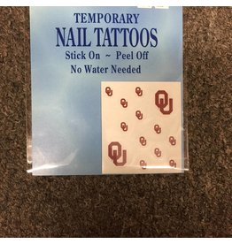 Westrick OU Temporary Nail Tattoos