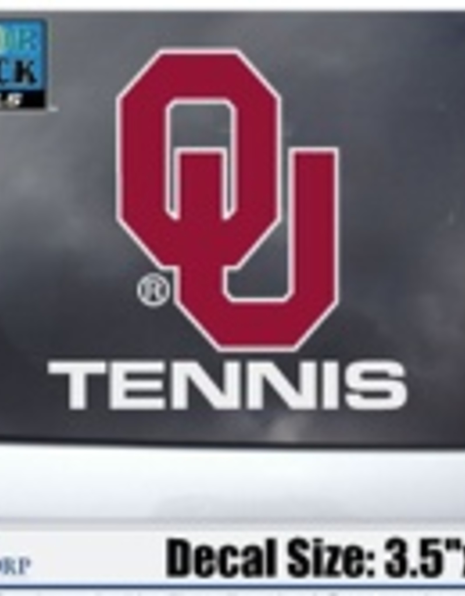 "Color Shock OU Tennis Auto Decal 3.5""X5"""
