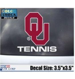 "Color Shock OU Tennis Auto Decal 3.5""X5"""