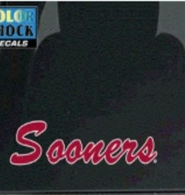 "Color Shock Sooners Script Small Auto Decal 2.1""x8.5"""