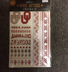 Chicka-d Spirit Tattoos Crimson & Silver