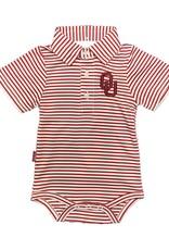 Garb Infant Carson OU Striped Poly Onesie Polo