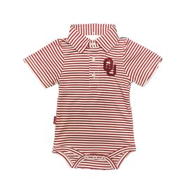 Garb Infant Carson OU Striped Poly Onesie Polo