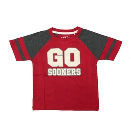 Garb Toddler Kristoff GO SOONERS Sleeve Stripe Tee