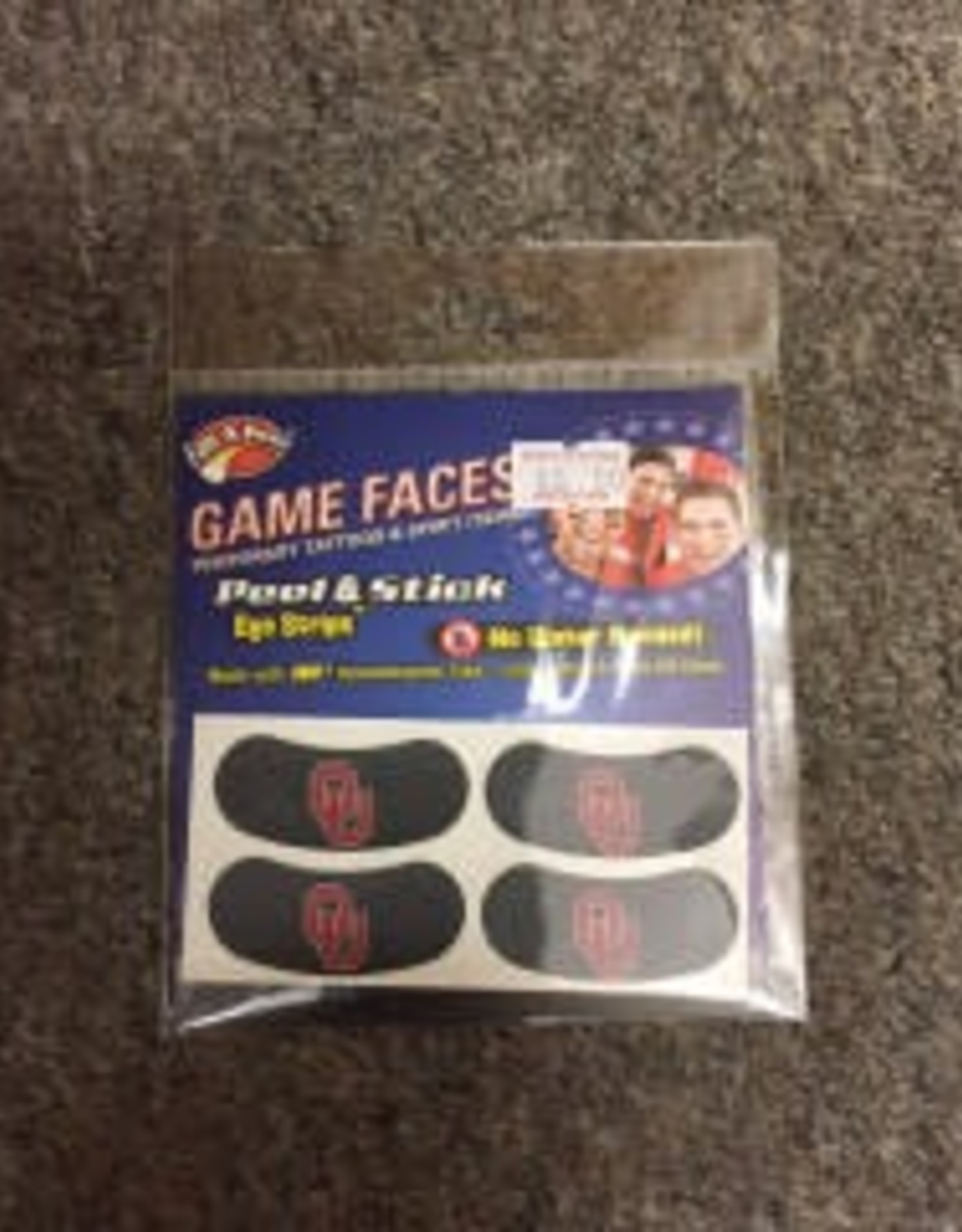 Game Face Game Faces Eye Black Strips Black Peel & Stick