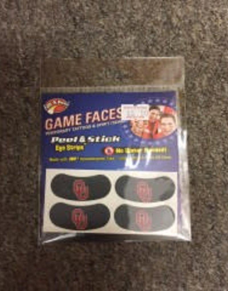 Game Face Game Faces Eye Black Strips Black Peel & Stick