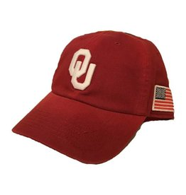 Top of the World TOW Crimson OU American Flag Hat