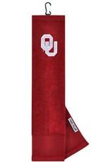 Team Effort OU Embroidered Crimson Golf Towel