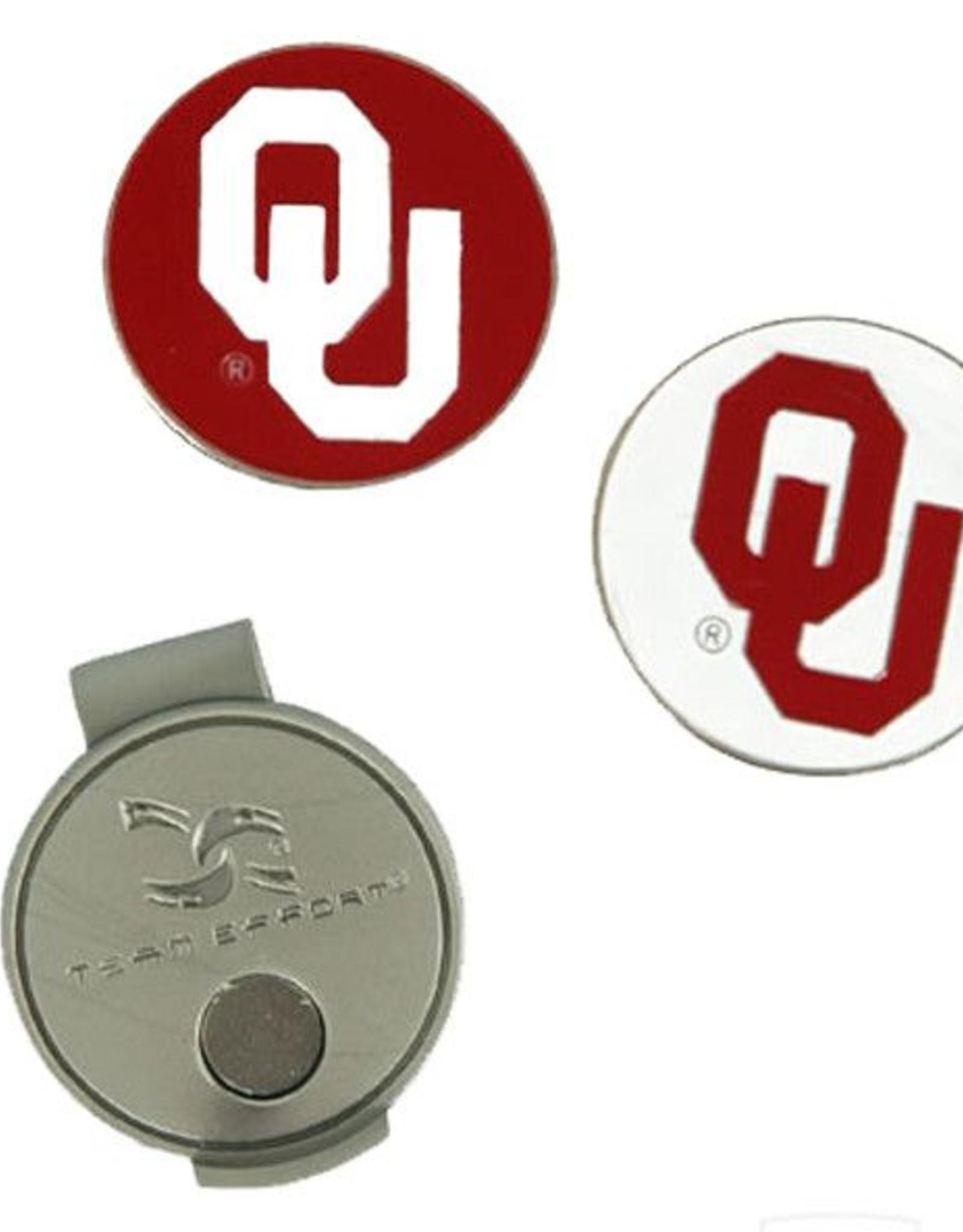 Team Effort OU Hat Clip/Ball Markers Magnetic