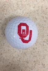 Team Golf OU White Golf Ball Single