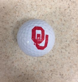Team Golf OU White Golf Ball Single