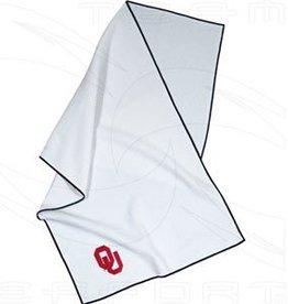 Team Effort OU White MicroFiber Golf Towel