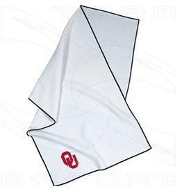 Team Effort OU White MicroFiber Golf Towel