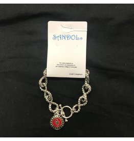Sandol Sandol OU Link Silvertone Bracelet