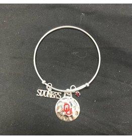 Sandol Sandol OU Sooners Silvertone Charm Bracelet