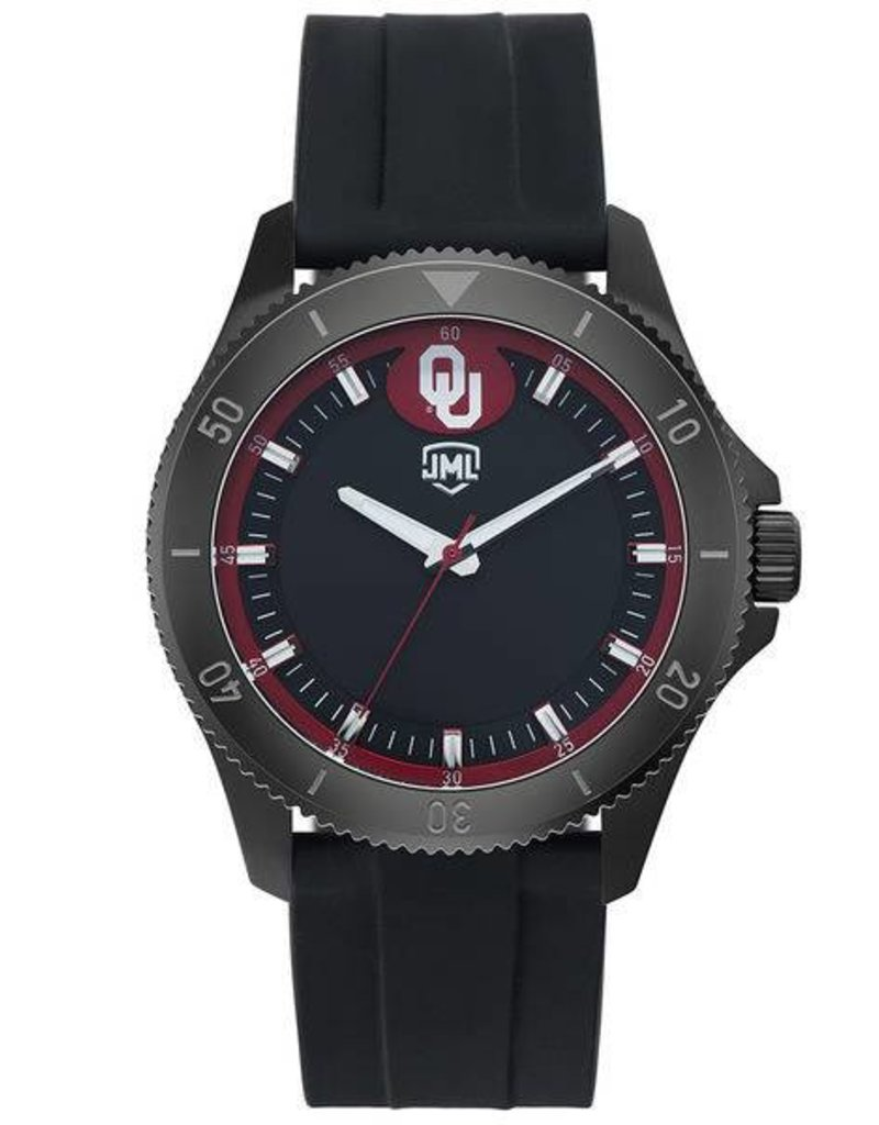Jack Mason Men's OU Blackout Silicone Band Watch