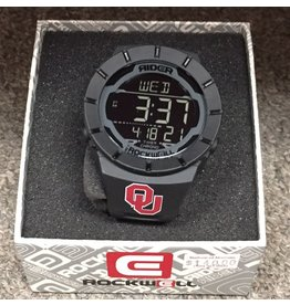 OU Rockwell Black Digital Watch with Sport Band