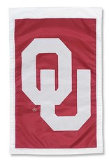"Team Sports America Appliqued OU Decorative Two-sided Banner (28""x44"")"