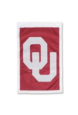 """Team Sports America Appliqued OU Decorative Two-sided Banner (28""""x44"""")"""