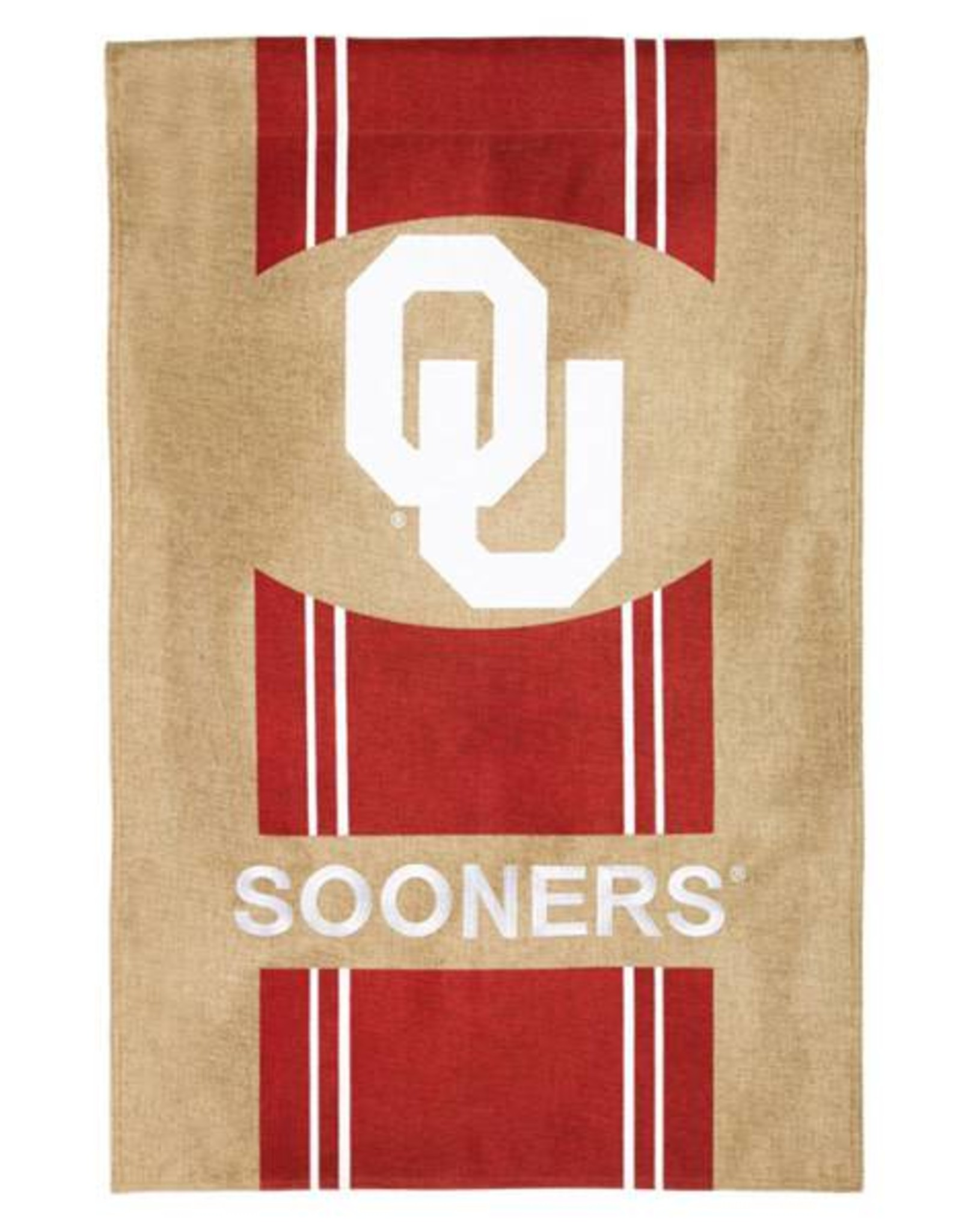 "Team Sports America Burlap OU Decorative Banner (28""x44"")"