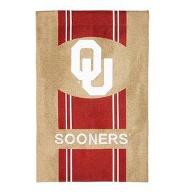 """Team Sports America Burlap OU Decorative Banner (28""""x44"""")"""