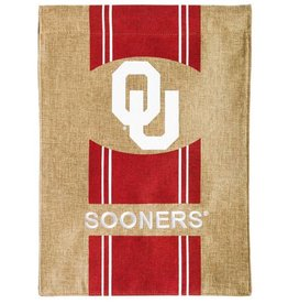 "Team Sports America OU Burlap Garden Flag 12.5""x18"""