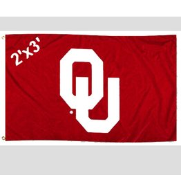 Sewing Concepts OU Crimson 2'x3' Applique Double Sided Flag (F)